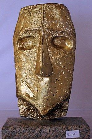Gold over Bronze Sculpture - Pablo Picasso