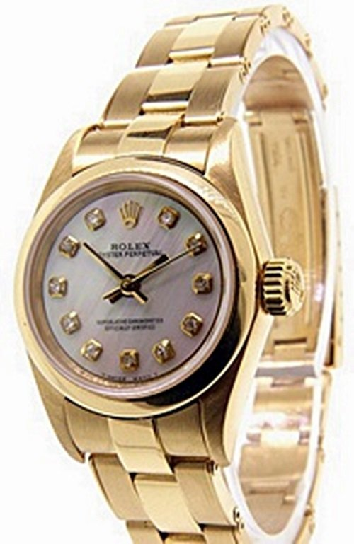 Ladies 18K OysterPerpetual Rolex Watch
