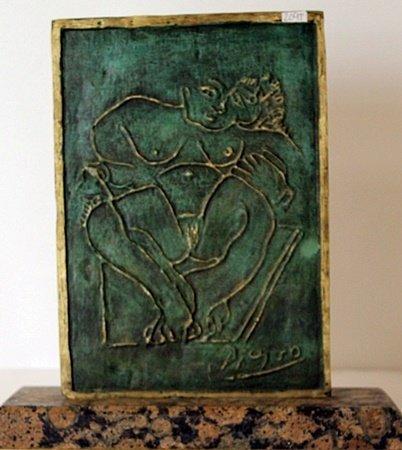 Patina Bronze Sculpture - Pablo Picasso