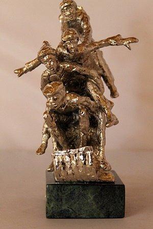 Tobogganeers - Silver Sculpture - Dennis Smith