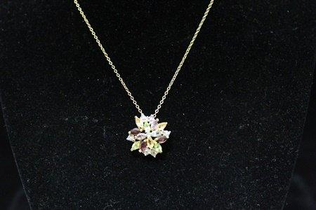Lavish 14kt Gold over Silver Multicolor Gemstones