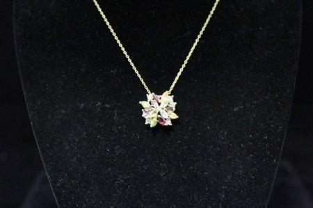 Fancy 14kt Gold over Silver Multicolor Gemstones