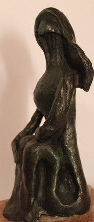 Sitting Nude - Patina Bronze Sculp. - Pablo Picasso