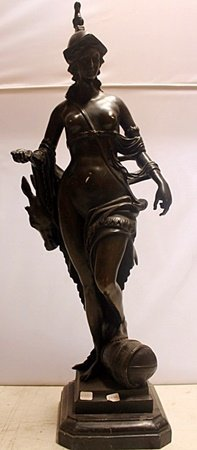 The Huntress - Bronze Sculpture w/ Marble Base