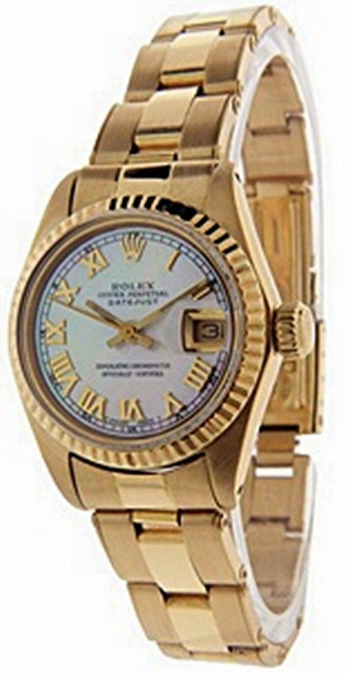 Lady's 18K DateJust Mother Pearl Rolex