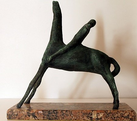 Patina Bronze Sculpture - Marino - 3