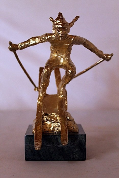She Comes Into View - Gold over Bronze Sculpture -