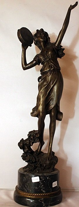 Dancer - Bronze Sculpture W/ Marble Base