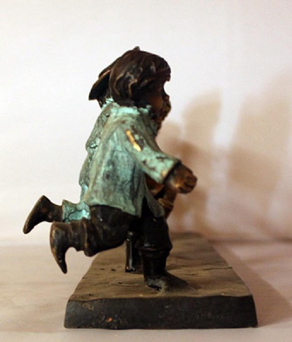 Children at Play - Patina Bronze Sculpture - 2