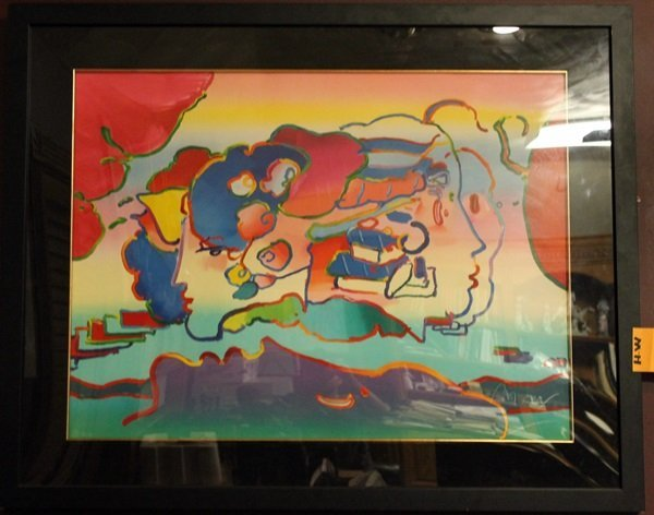 Signed Mixed Media Peter Max