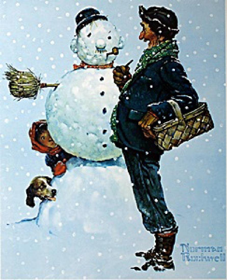 """Lithograph """"Brown and Bigelow""""  Norman Rockwell"""