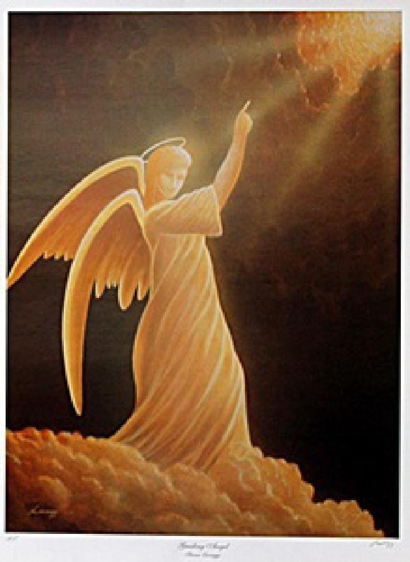 "Lithograph ""Guiding Angel""  Steven Lavaggi"