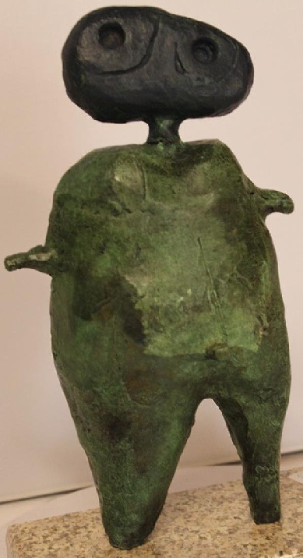 Patina Bronze Sculpture - Joan Miro
