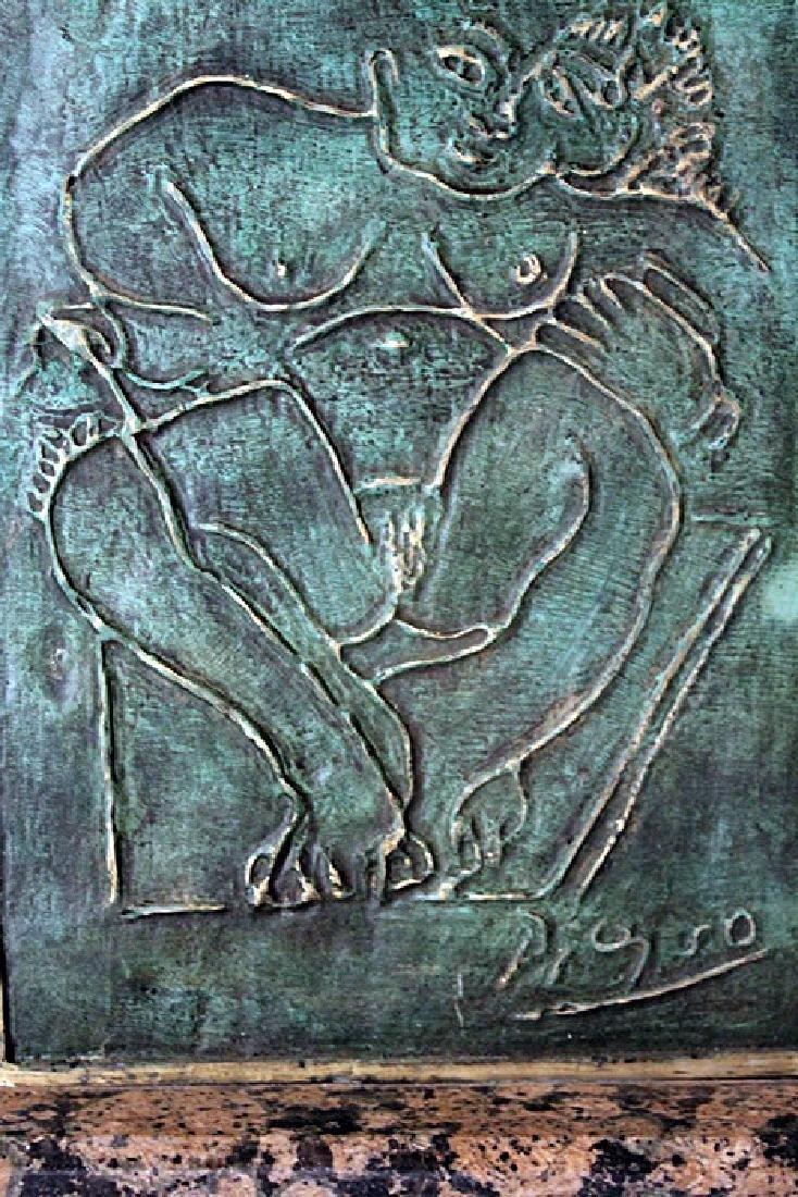 Patina Bronze Sculpture - Pablo Picasso - 2