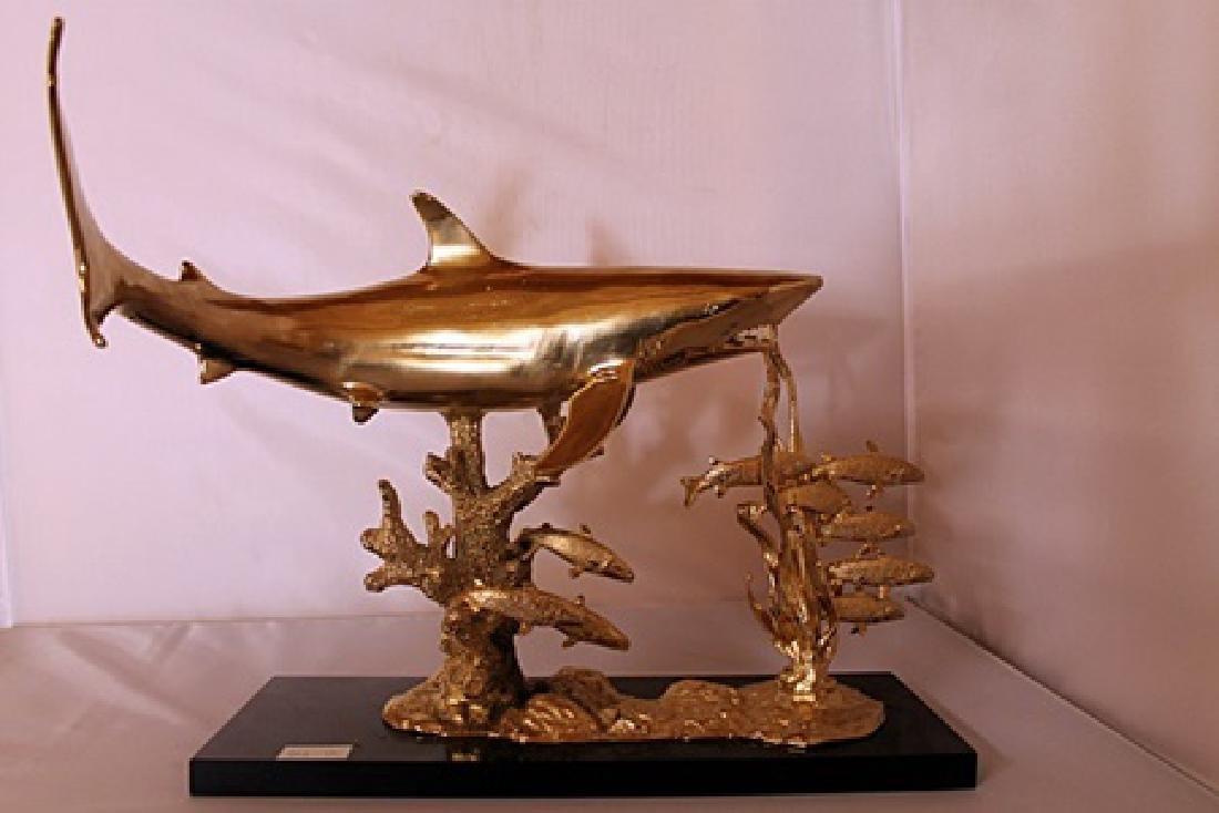 Shark Reef - Gold over Bronze Sculpture after SPI