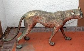 Cheetah - Platnium Recast Sculpture - Bayre
