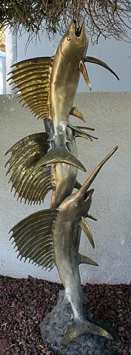 Large Two Tone Sailfish Sculpture