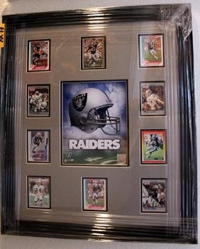 Raiders Framed Giclee Trading Cards
