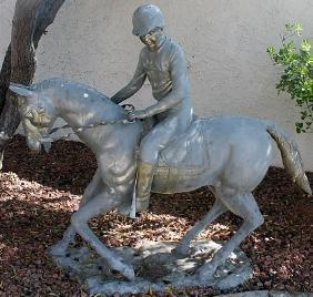 Horse Rider - Bronze Sculpture