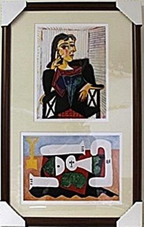 Framed 2-in-1 Picasso Lithographs (125E-EK)