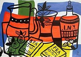 Still Life - Oil on Paper - F. Leger