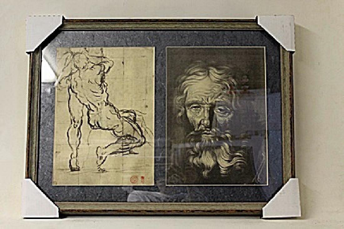 Framed 2-in-1 Engravings (218e-EK)