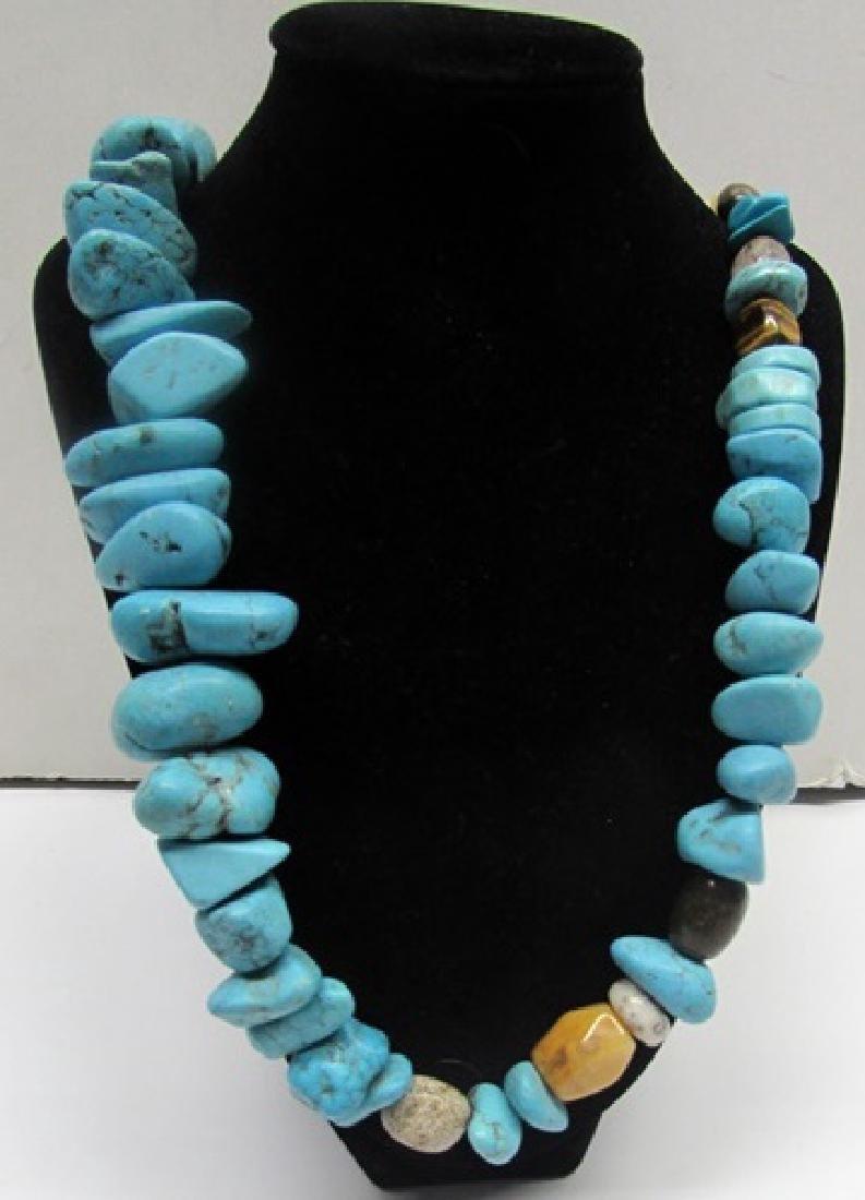 Stunning Turquoise & Tiger Eye Necklace