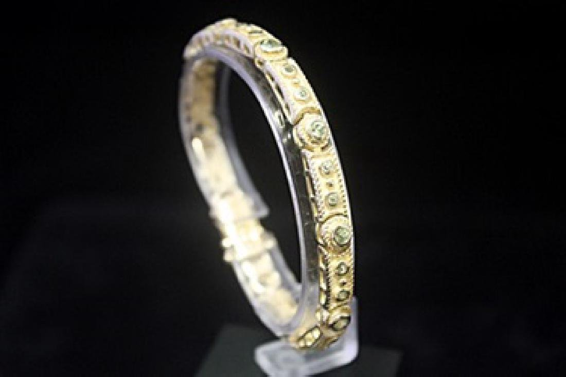 Exquisite 14kt Gold over Silver Russian Alexandrite