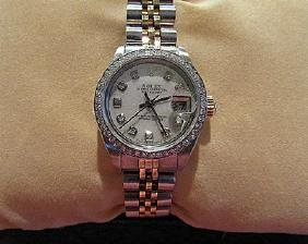 Women Diamond 18k Gold Rolex Watch