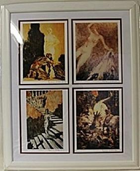 Framed 4-in-1 Louis Icart Lithographs (146E-EK)