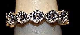 Fancy Tanzanites Sterling Silver Ring. (235L)