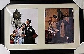 Framed 2-in-1 Norman Rockwell Lithographs (134E-EK)