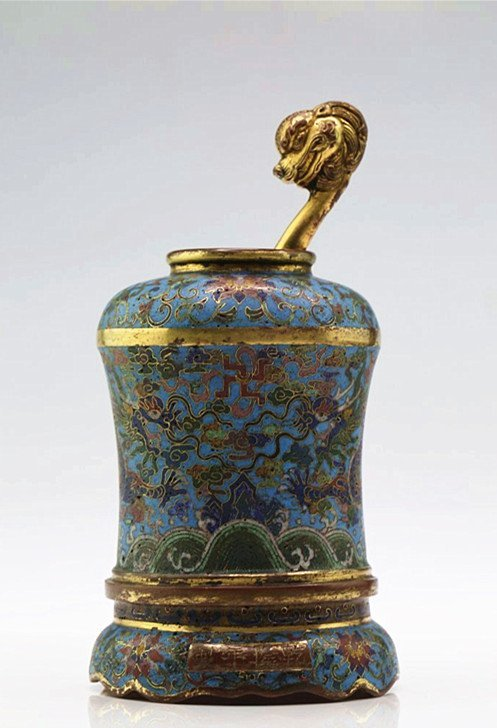 CHINESE CLOISONNE WATER DROPPER