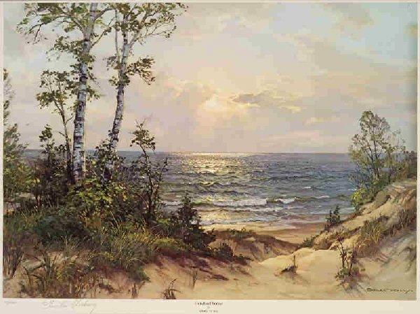 17: Charles Vickery's 'The Duneland Sunset ' Print