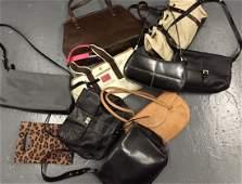10 pc BOX LOT designer handbags LONGCHAMP Coach K. COLE