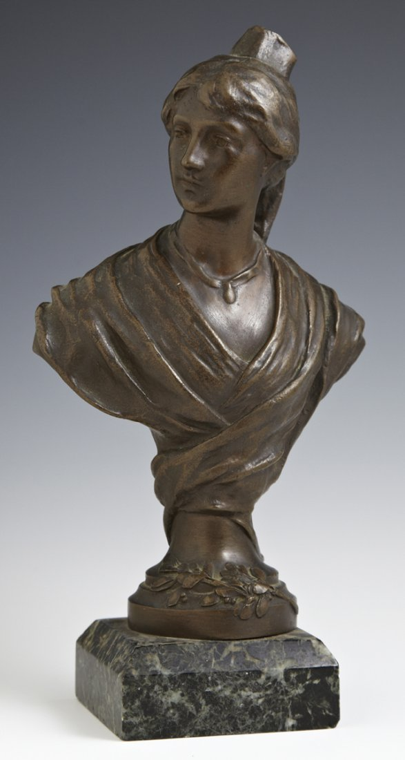French Cabinet Bronze, late 19th c., of a medieval