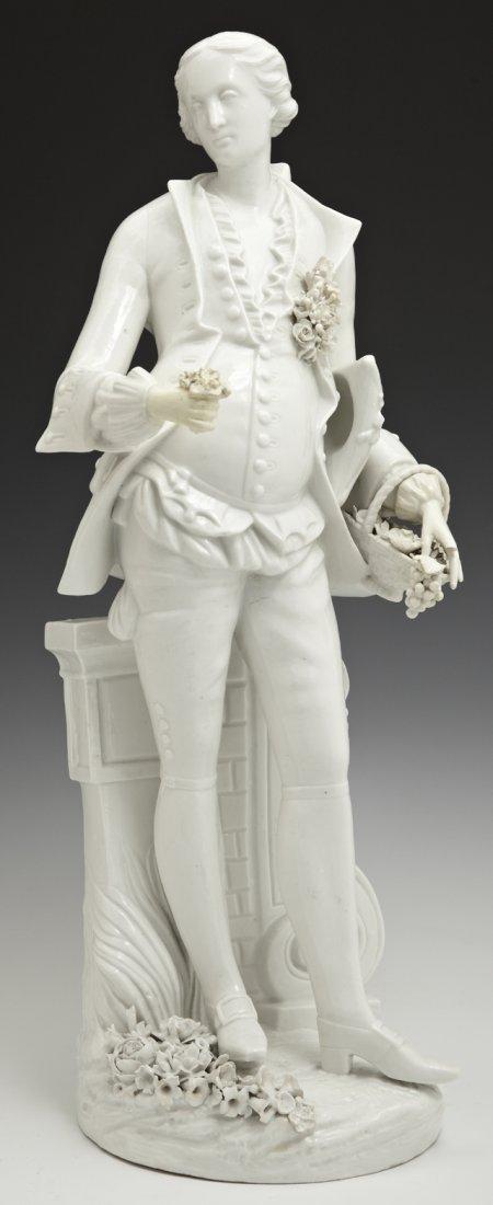 Large Meissen Blanc de Chine Porcelain Figure of a