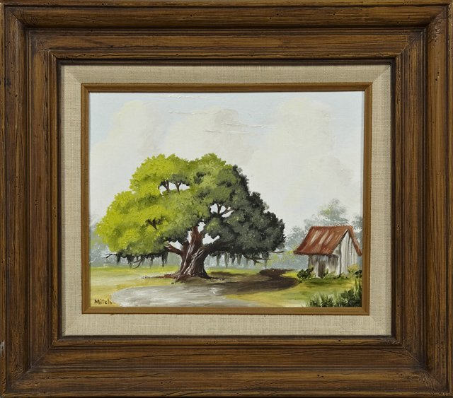 "Sarah Mitchell (Louisiana), ""The Big Oak,"" oil on"