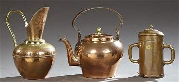 Three Pieces of Copper Cookware early 20th c