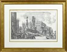 """Giovanni Piranesi, """"Veduta del Campidoglio di Fianco,"""""""