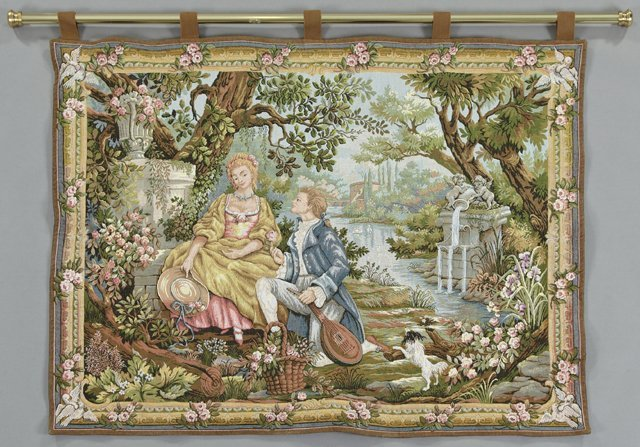 """Marc Waymel, """"Jardin D'Amour,"""" 20th c., tapestry, made"""