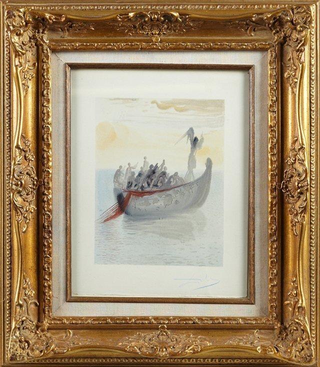 "Salvador Dali (1904-1989), ""L'Angelo Nocchiero,"" from"