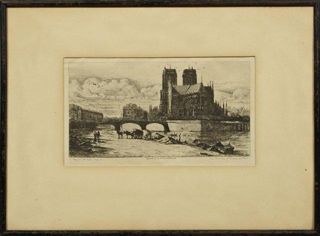 "Charles Meryon (1821-1868, France), ""Notre Dame,"" 19th"