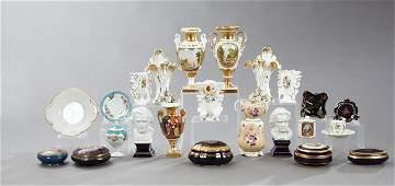 Miscellaneous Group of Twenty-Four French Porcelain