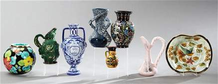 Group of Seven Ceramic Items 20th c consisting of a