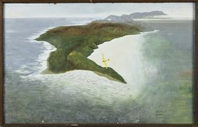 """Terry Hayes (australian), """"glider Over The Coast,"""""""
