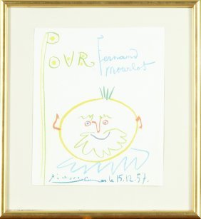 """Pablo Picasso (1881-1973), """"clown Pour Mourlot,"""" Print,"""