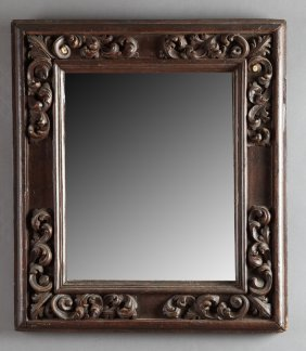 American Carved And Stained Baroque-style Mirror,