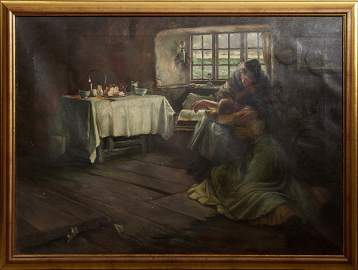 """Alice O. Clay (English), """"Two Women in an Interior,"""""""