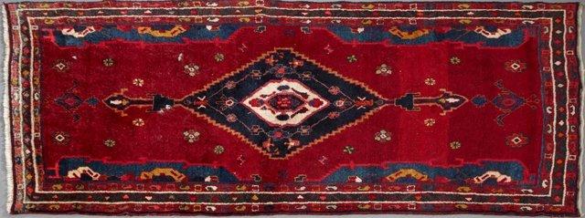 Hamadan Carpet, 3' x 7'.